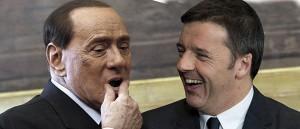 Forza Italia's chief Silvio Berlusconi addresses the media at the end of the meeting with Italian premier-designate Matteo Renzi in Parliament offices in Rome, Italy, 19 February 2014. ANSA/GIUSEPPE LAMI