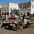 olycom - gibuti - A0PPKX Outdoor bazaar scene Djibouti City Djibouti Africa